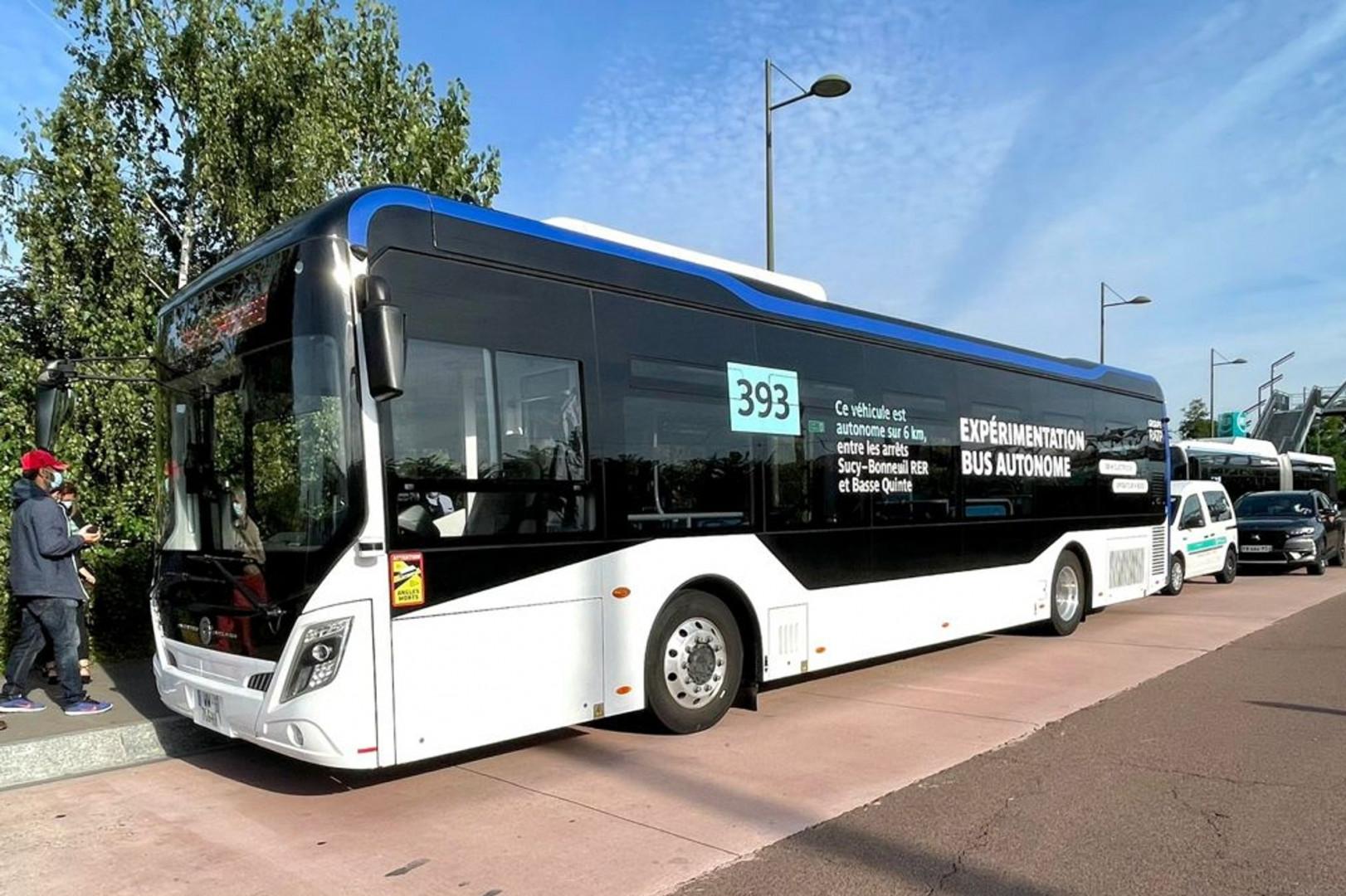 Le bus autonome testé par la RATP
