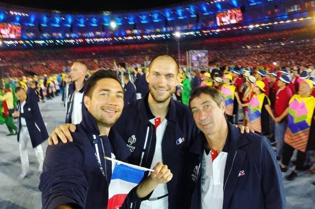 Kévin, Kim et Laurent Tillie aux JO de Rio