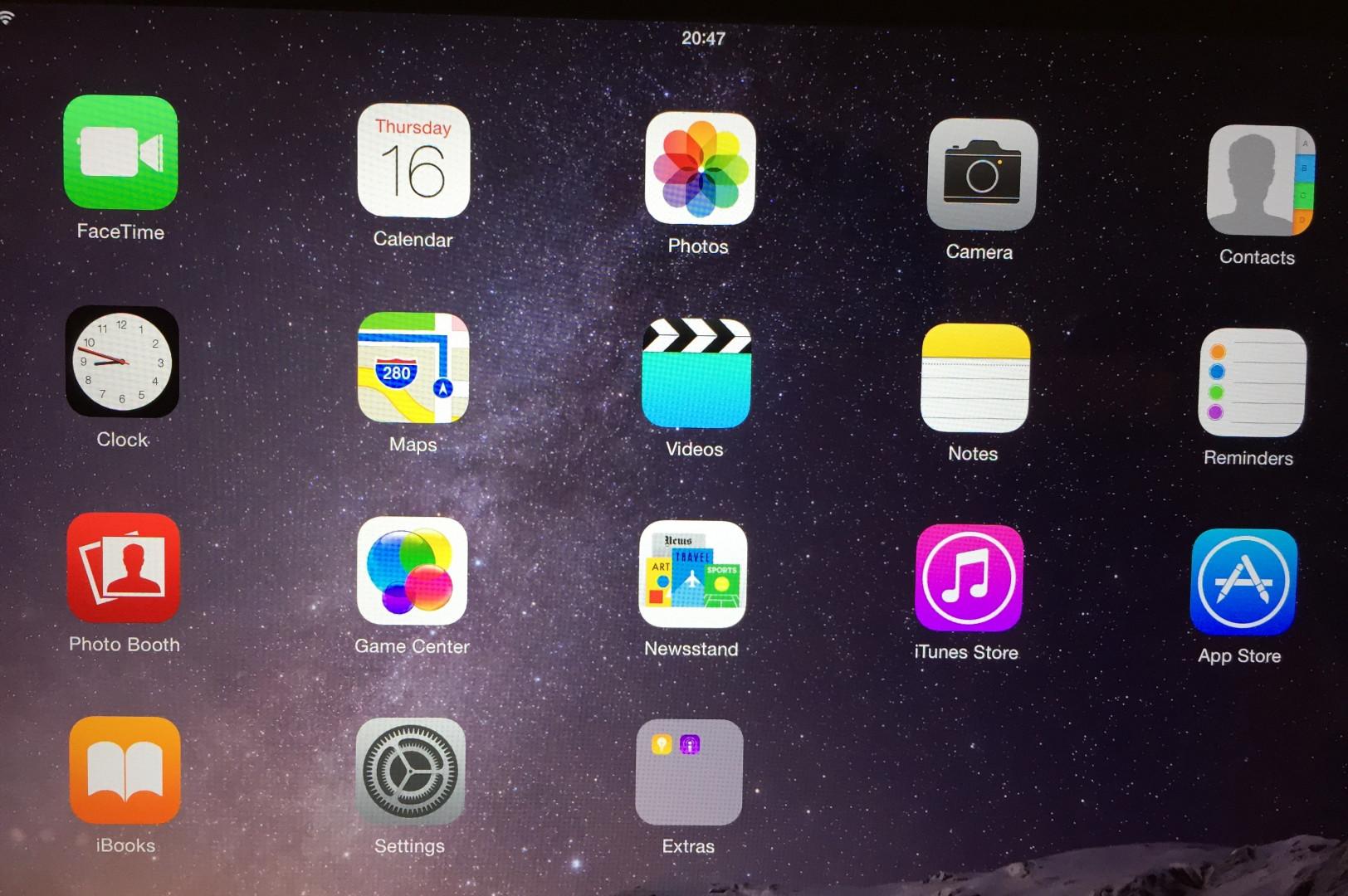 La homepage du nouvel iPad Air 2.