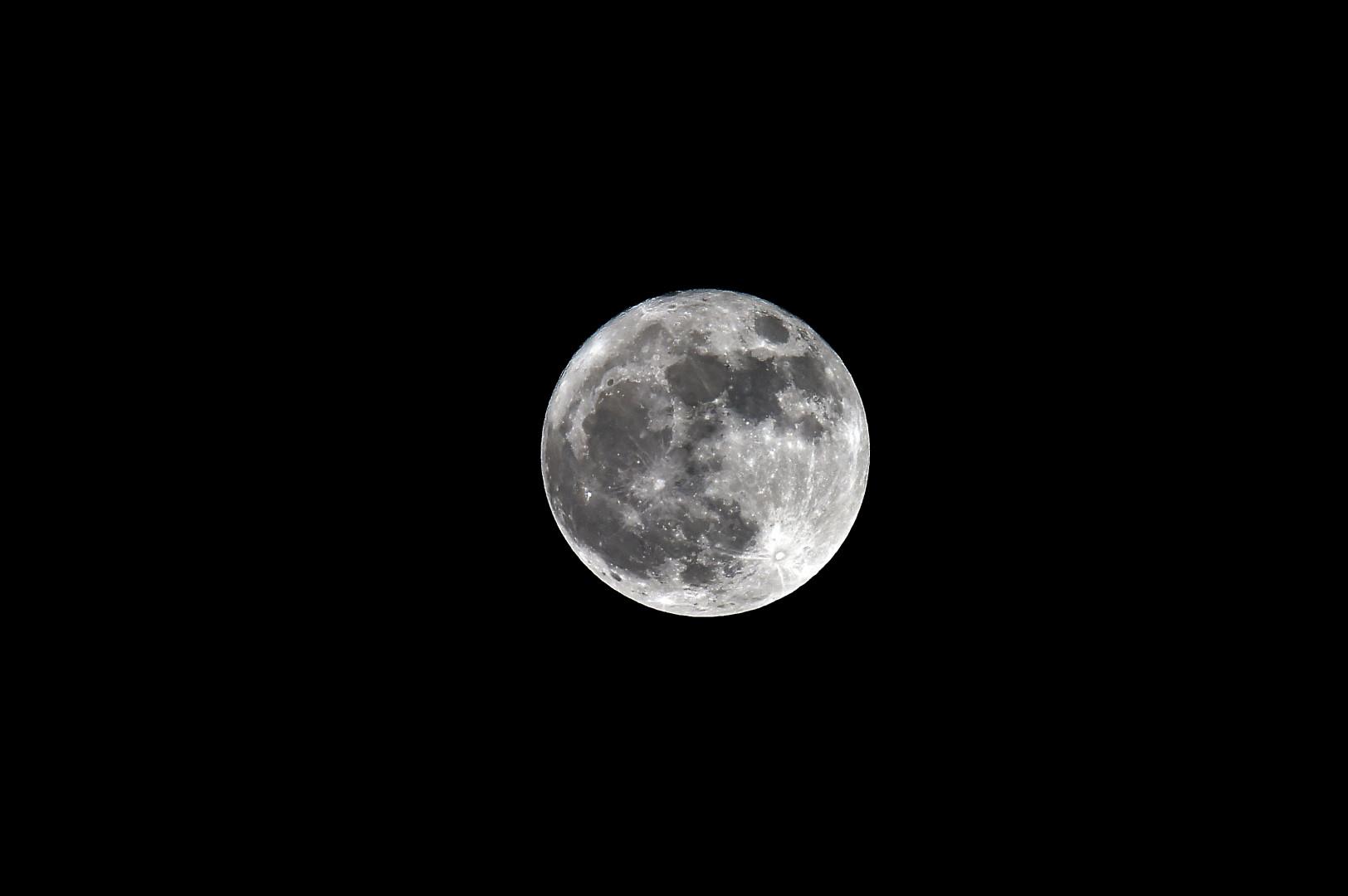 Le Super Lune observée depuis Trébons-sur-la-Grasse (Haute-Garonne), le 3 décembre 2017