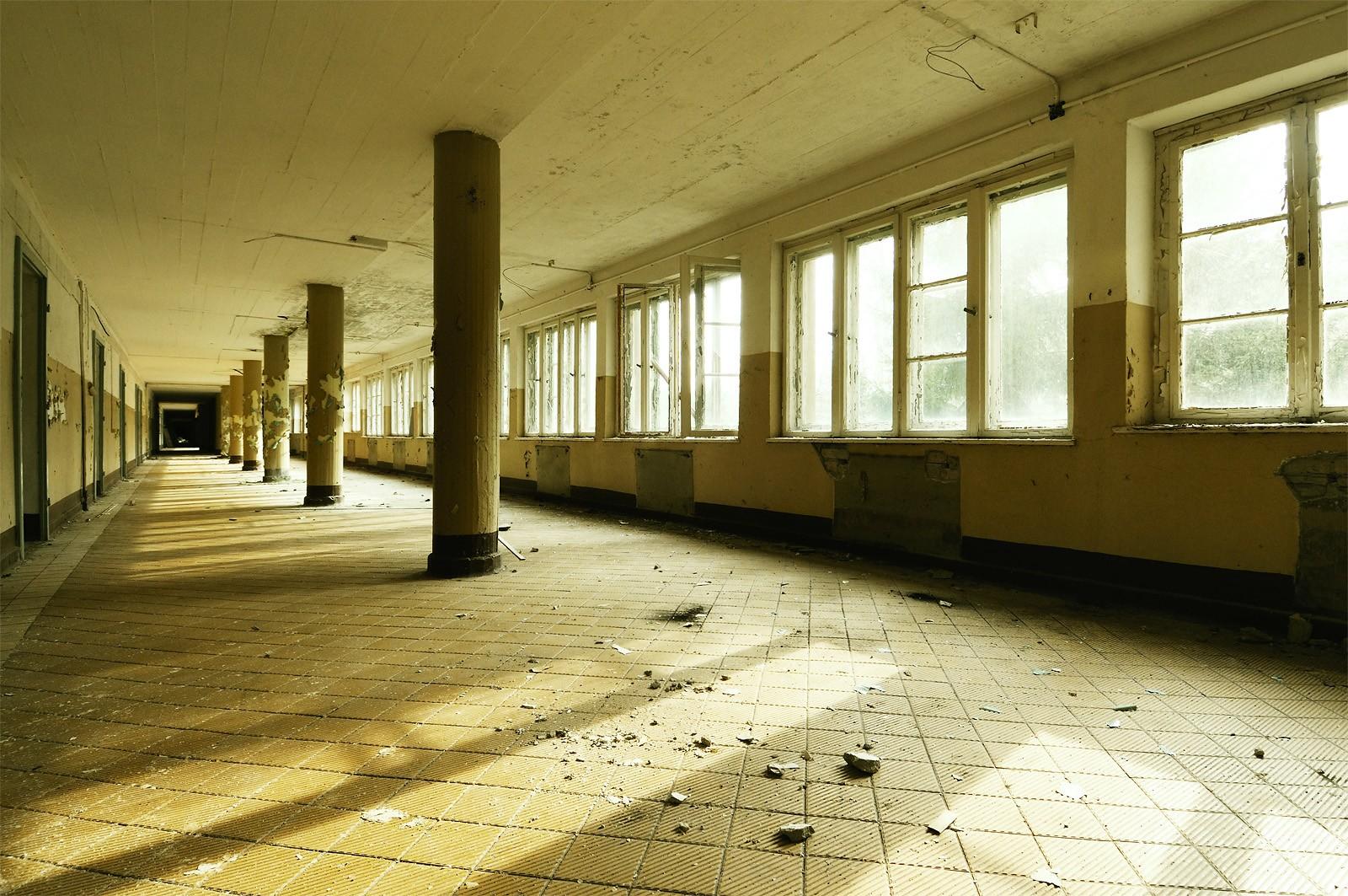 Un couloir du bâtiment original