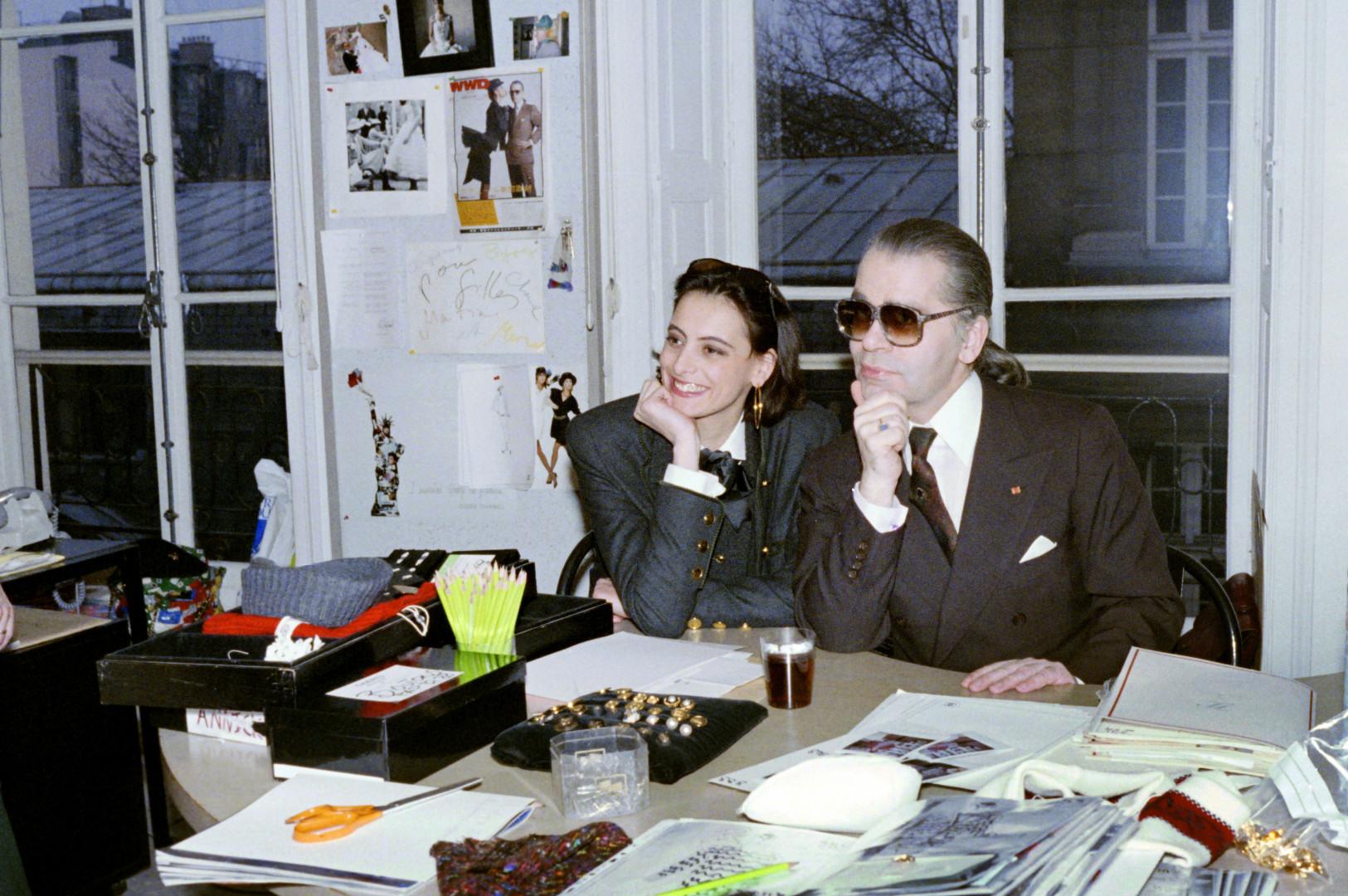 Avec Inès de la Fressange en 1985, premier mannequin autant médiatisée