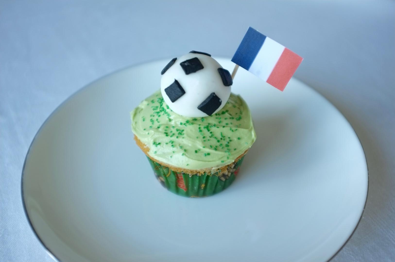 Recette sans gluten de cupcake vanille pour l'Euro 2016