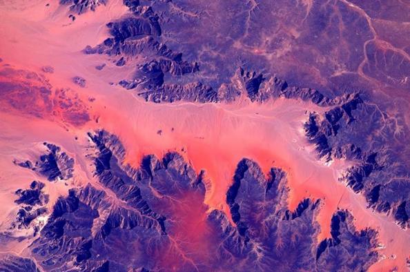 Une vue de l'Afrique depuis la Station spatiale internationale