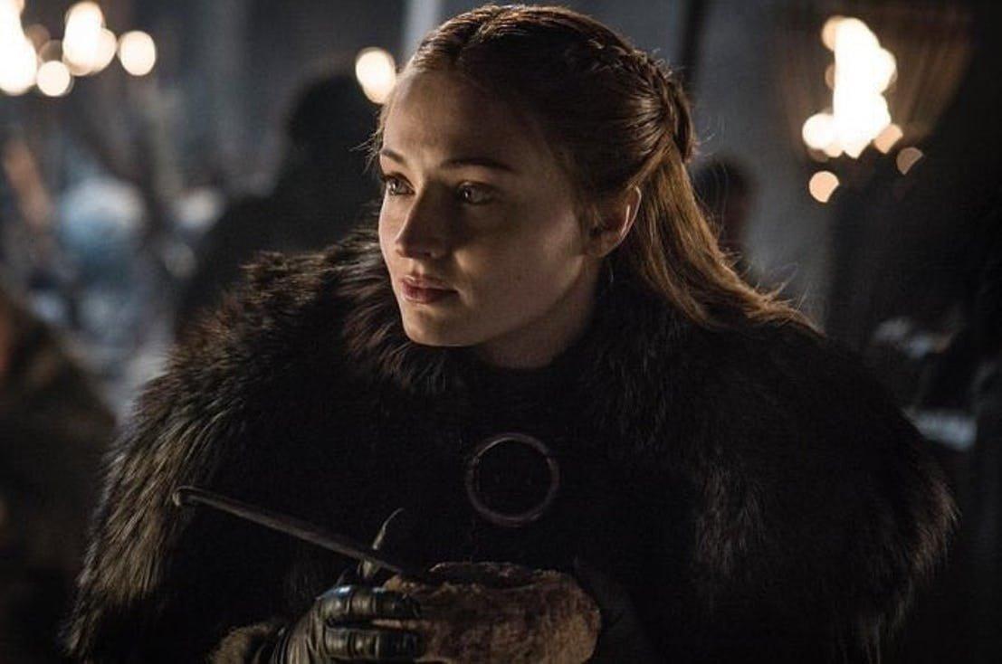 Sansa Stark, probablement avant la grande bataille contre les Marcheurs Blancs