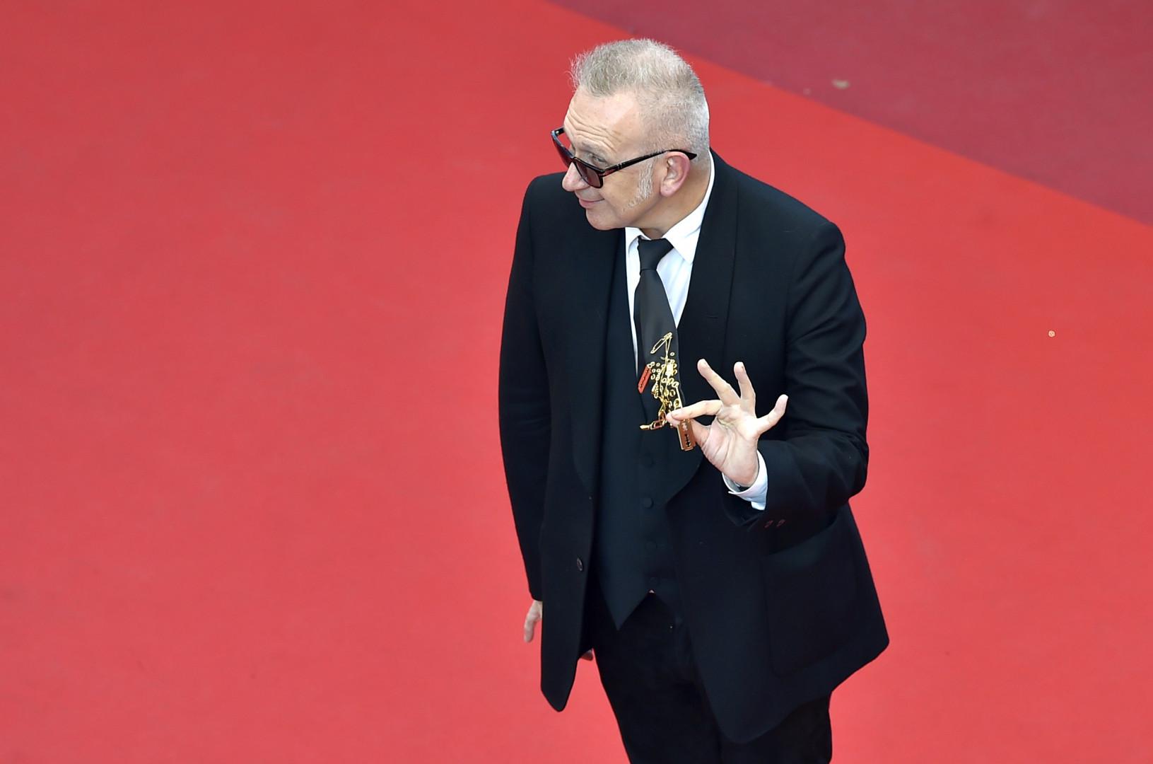 Jean-Paul Gaultier à Cannes le 17 mai 2016.