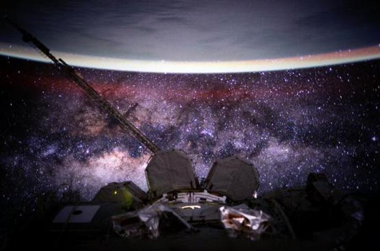 Scott Kelly photographie notre voie lactée lors de son 135ème jour en orbite