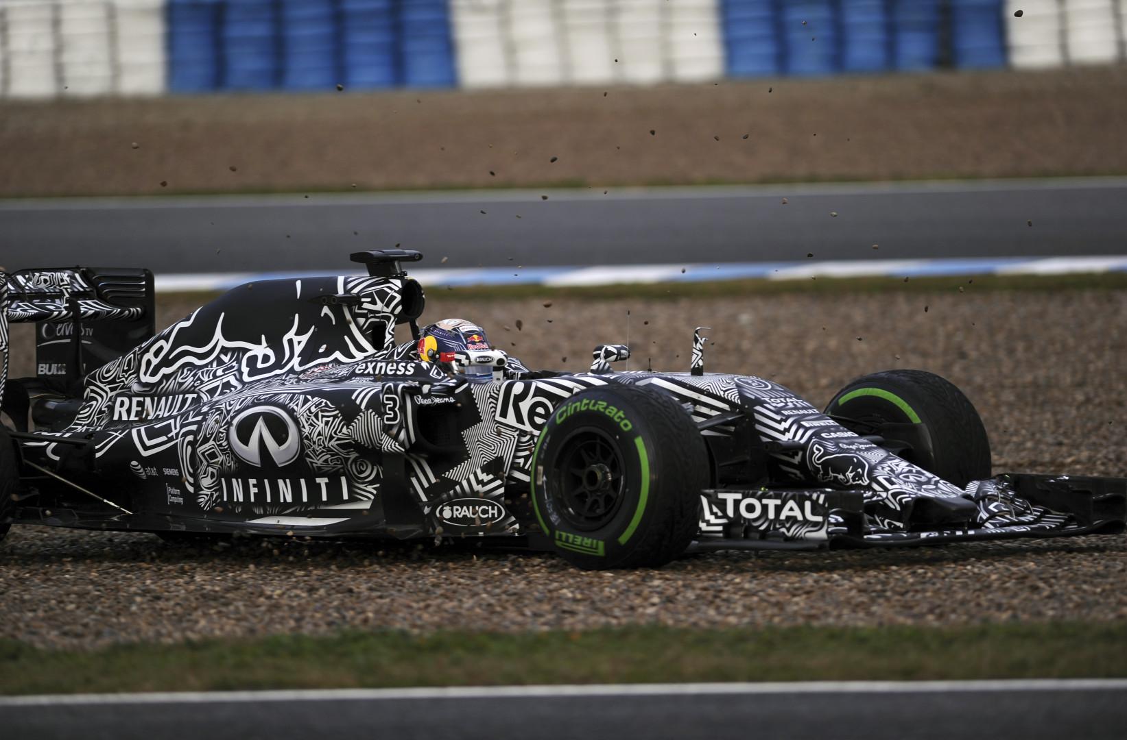 L'Australien Daniel Ricciardo au volant de la Red Bull le 3 février 2015