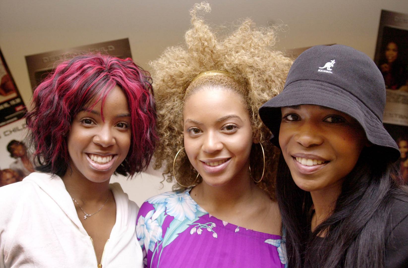 Beyoncé, entre Kelly Rowland et Michelle Williams, à l'époque Destiny's Child, le 27 mai 2002