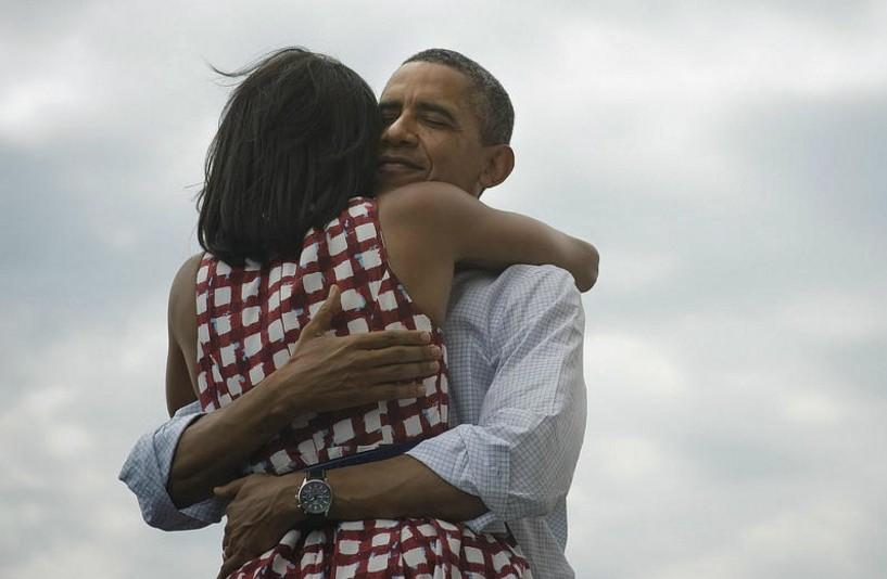 Barack et Michelle Obama, lors de sa réélection en 2012.