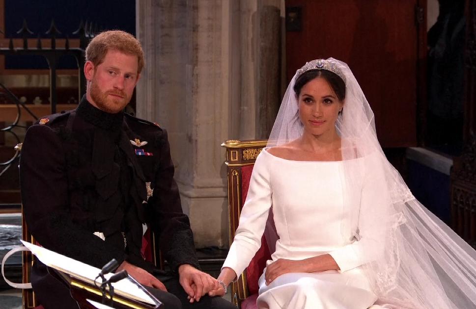 Meghan et Harry lors de la messe de mariage