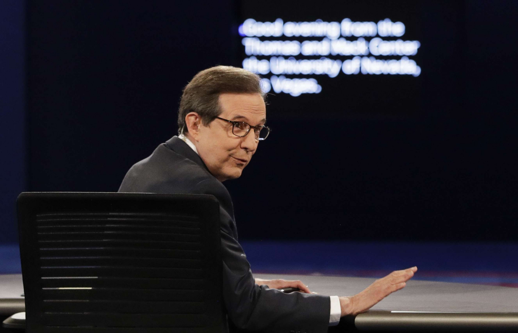 Le modérateur du débat Chris Wallace