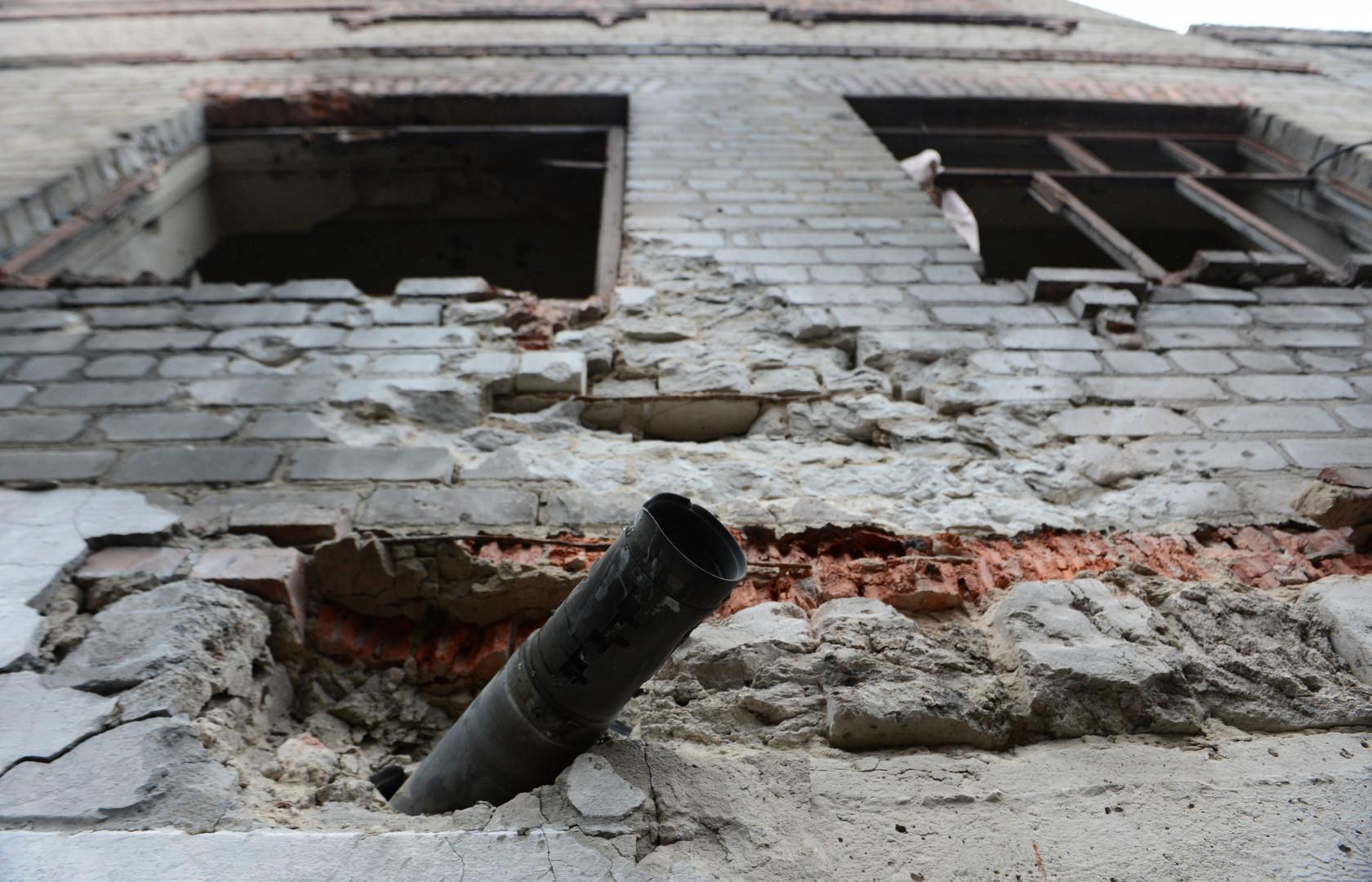 La façade d'une prison à Chornukhyne. Seuls 4 des 300 détenus y sont encore captifs