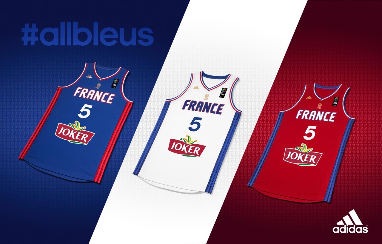 Les maillots de l'équipe de France de basket pour l'Eurobasket 2015