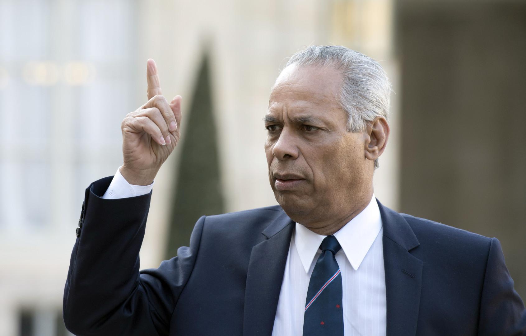 Victorin Lurel, président de la région Guadeloupe, le 12 mars 2014 à l'Élysée