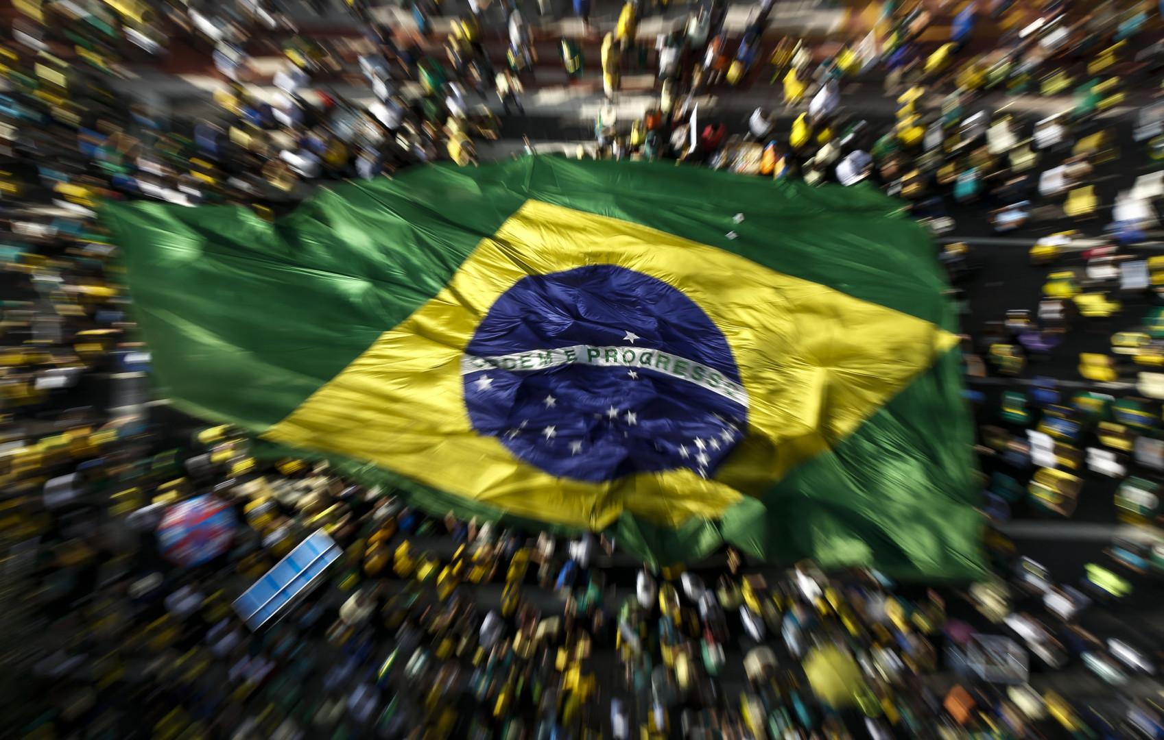 Un million de Brésiliens étaient dans les rues de Sao Paulo, le 17 août 2015, selon les organisateurs
