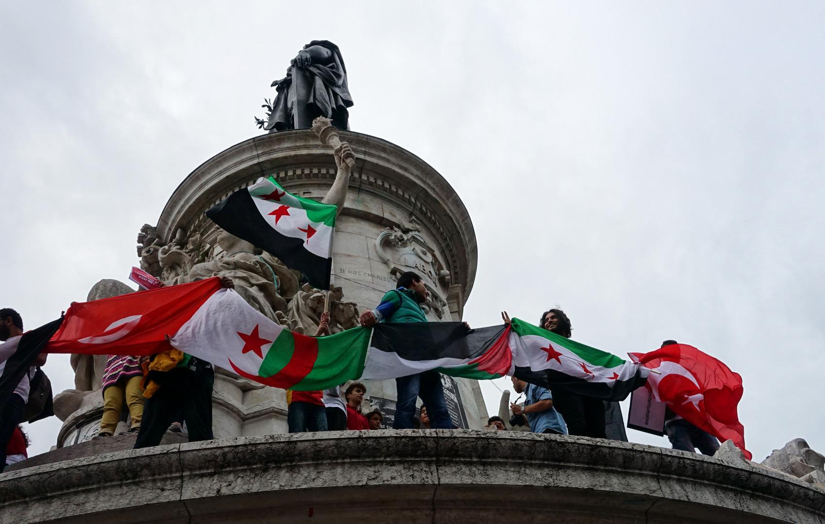 La Place de la République, ce samedi 5 septembre 2015
