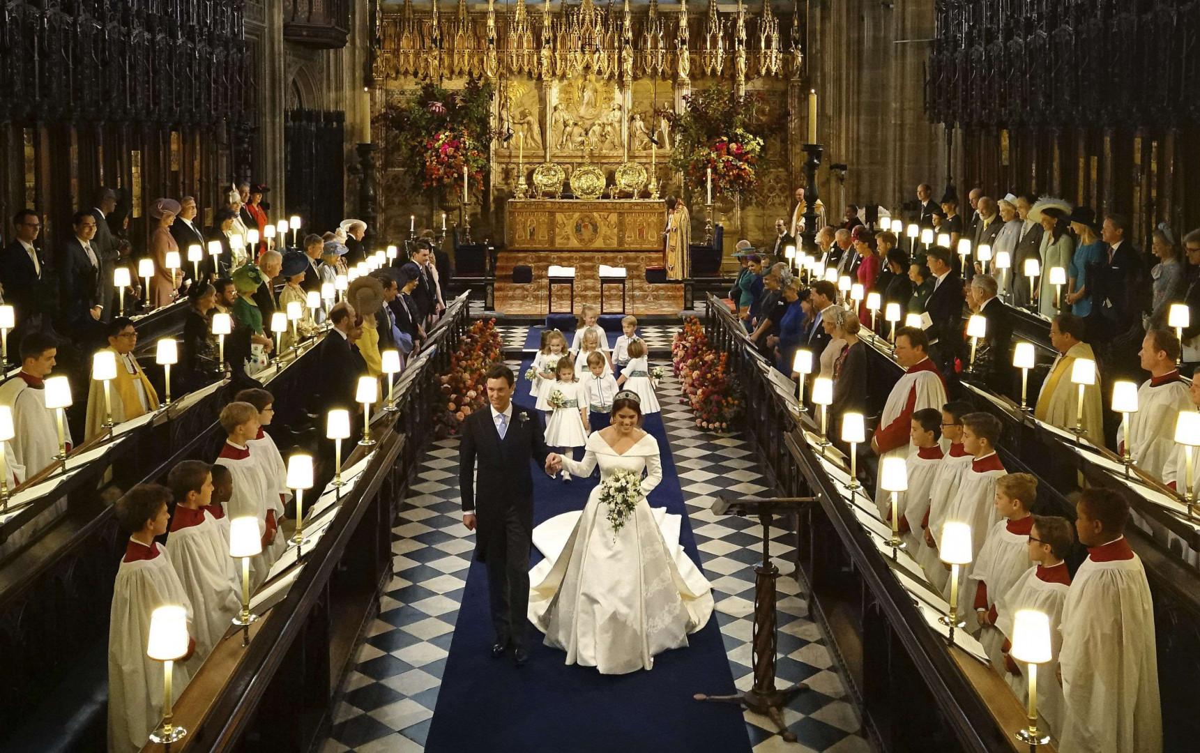 Le couple au sein de la chapelle St George