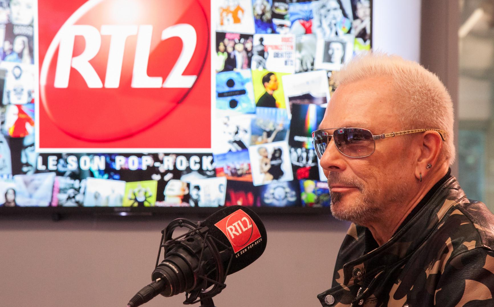 Klaus Meine de Scorpions dans les studios de RTL2