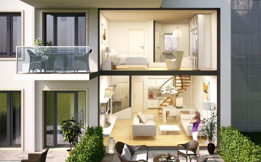 Un logement en duplex vu depuis l'extérieur (illustration)