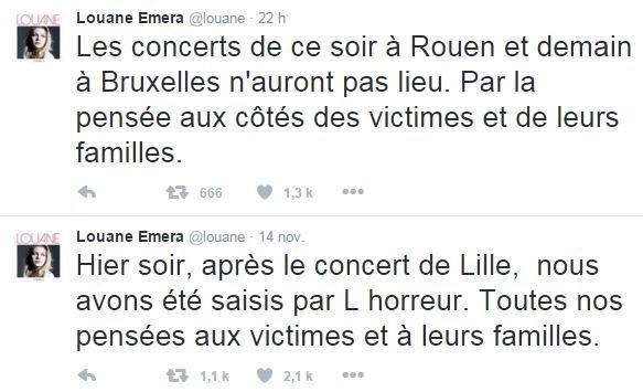 Louane a annulé deux concerts