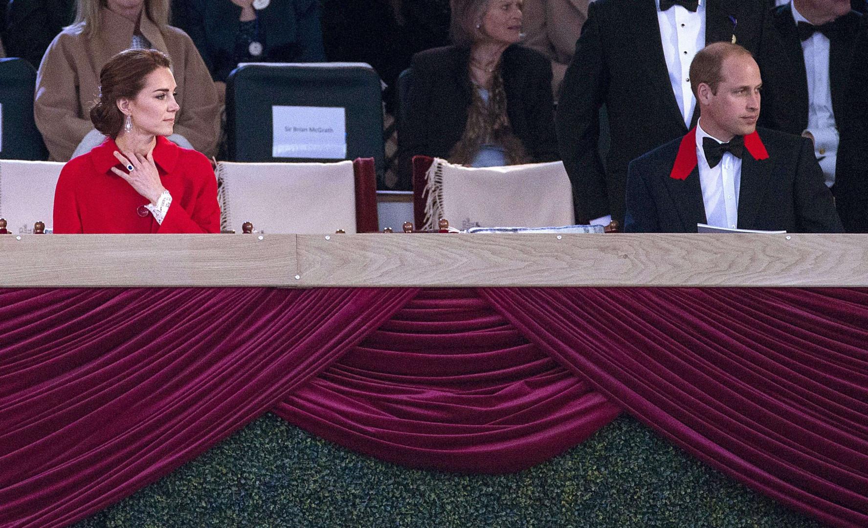 Kate Middleton et le prince William absorbés par le spectacle aux 90 ans de la reine