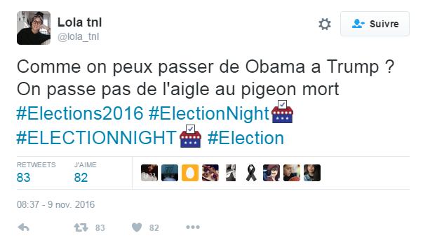 Barack, l'aigle ; Donald, le pigeon