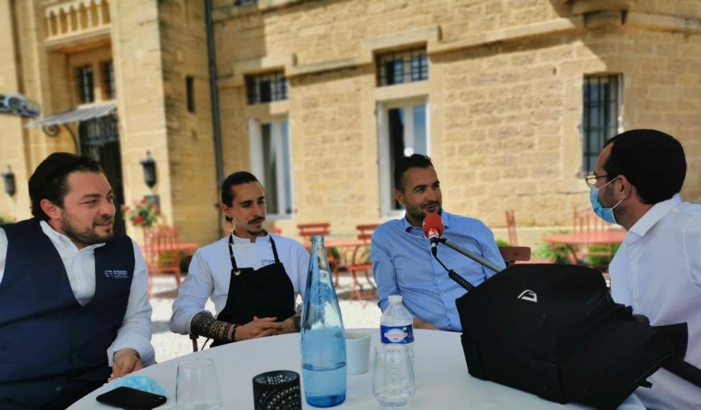 Les 3 associés : Sébastien Gutierrez, responsable de l'hôtellerie, Hugo Loridan-Fombonne le jeune et talentueux chef et Denis Duchêne l'entrepreneur passionné