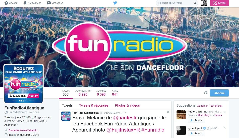 Twitter fun radio atlantique