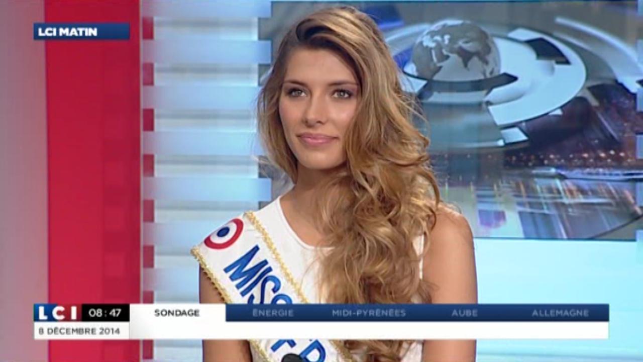 Miss France 2015 à la matinale de LCI, le 8 décembre