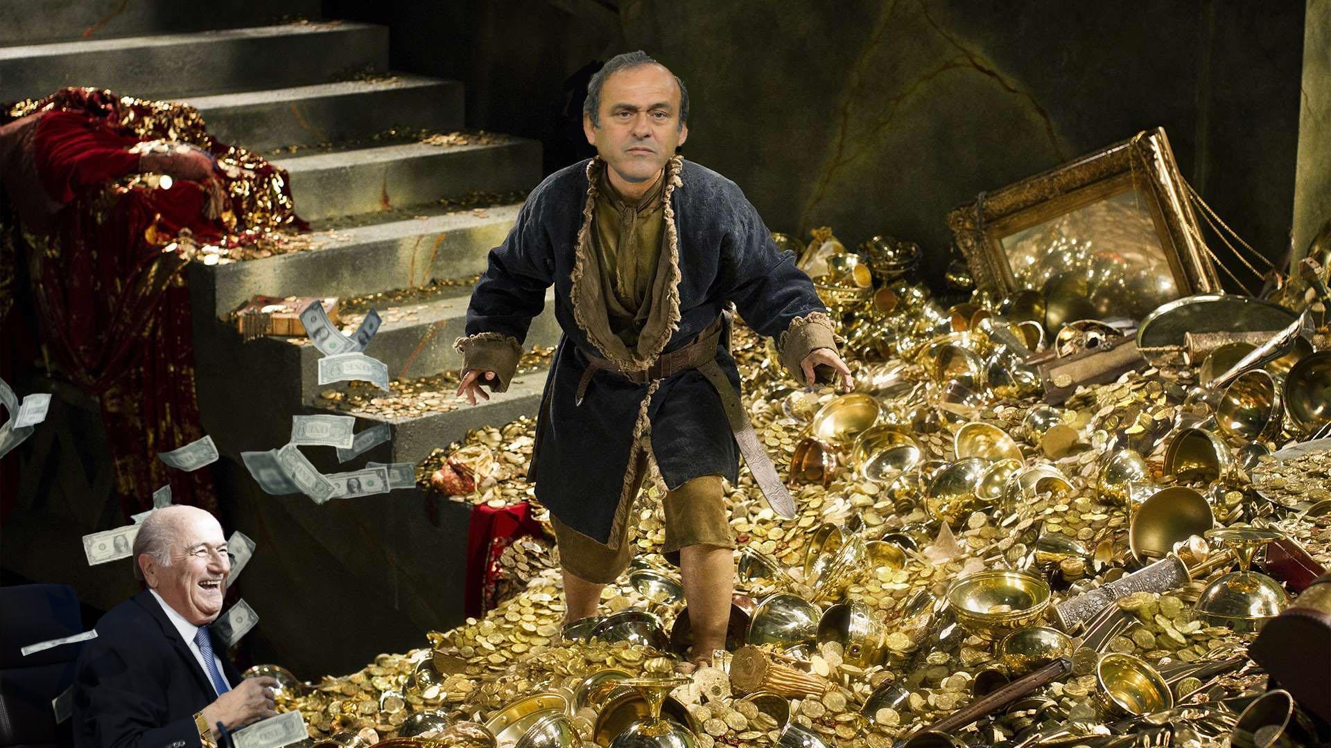 """Un remake du """"Hobbit"""" avec Michel Platini en chapardeur de butin ?"""