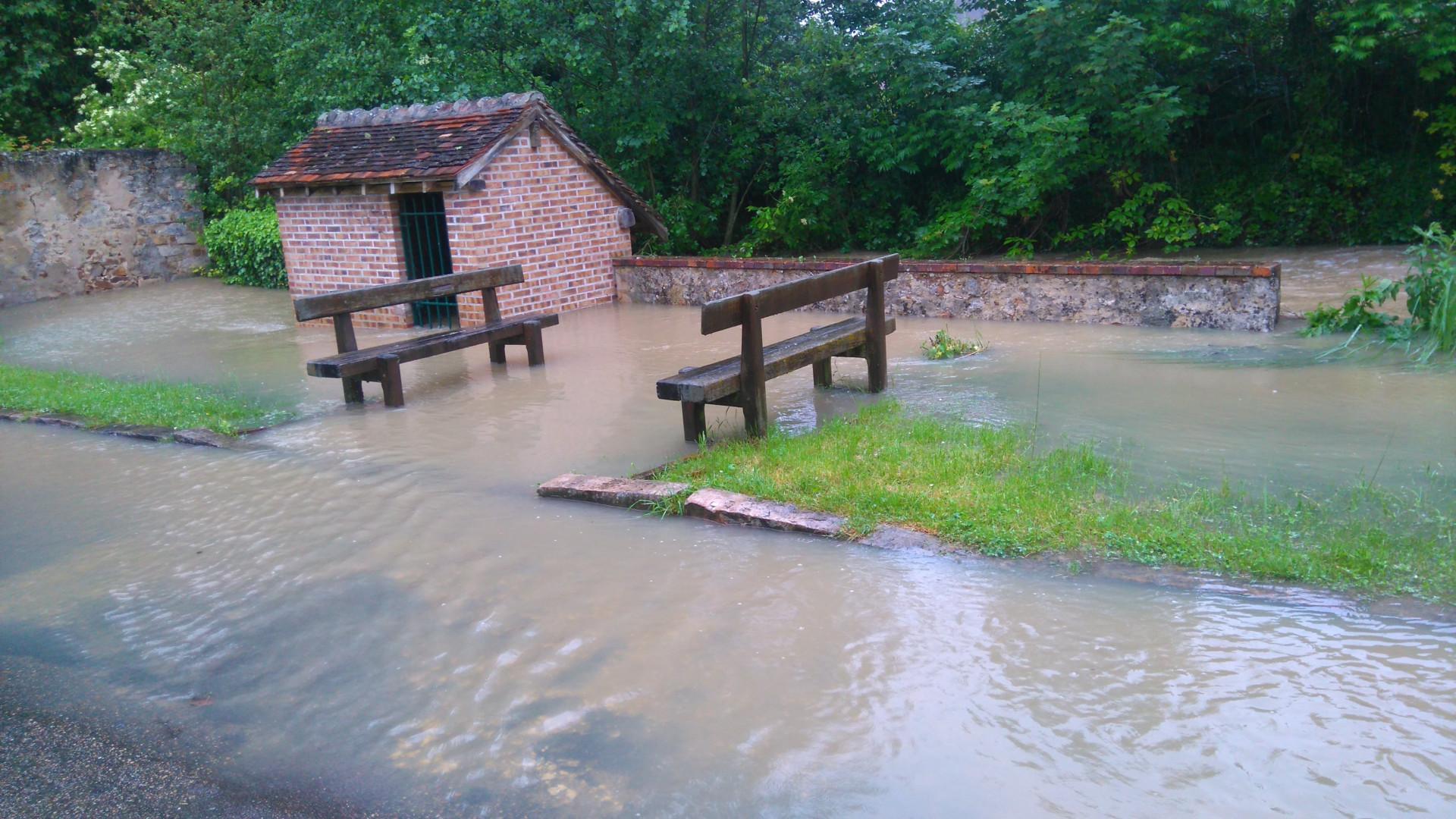 Inondations à Voulx (Seine-et-Marne) le 1er juin