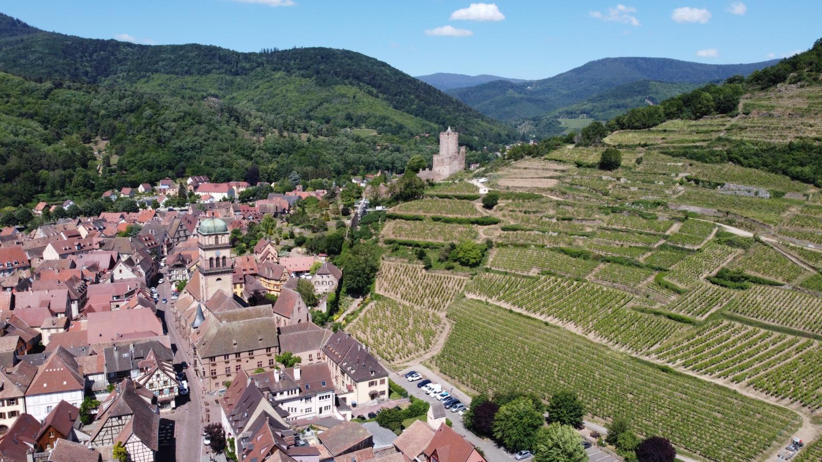 Le village de 2.800 habitants est niché entre la route des vins et la routes des crètes, en Alsace