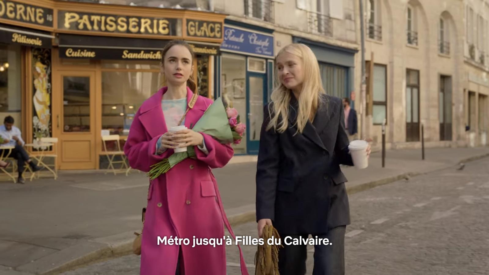 """Emily in Paris semble avoir été tourné exclusivement pendant les journées """"Paris sans voiture"""""""