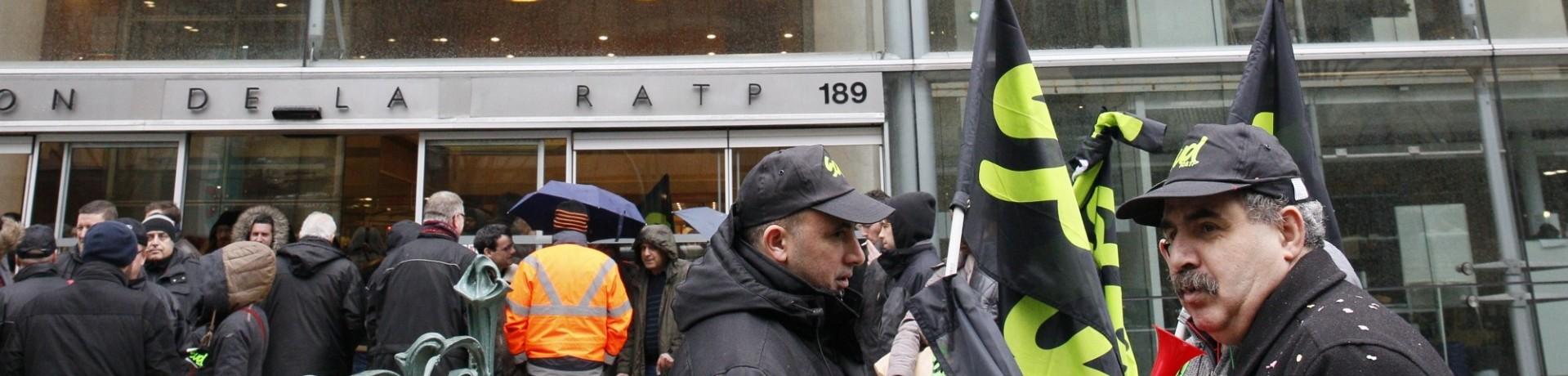 Des agents de la RATP en grève (illustration)