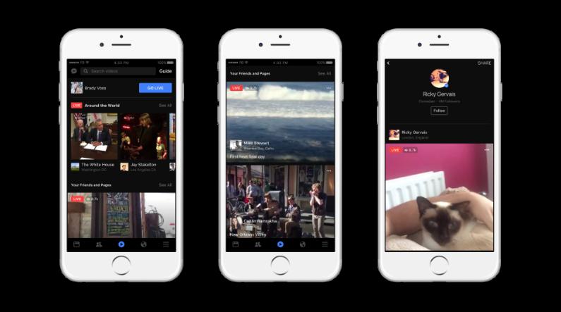 Un moteur de recherche dédié aux Live va faire son apparition sur l'application mobile