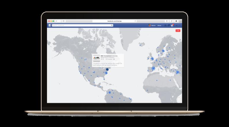 Les flux diffusés en direct seront représentés sur une carte du monde