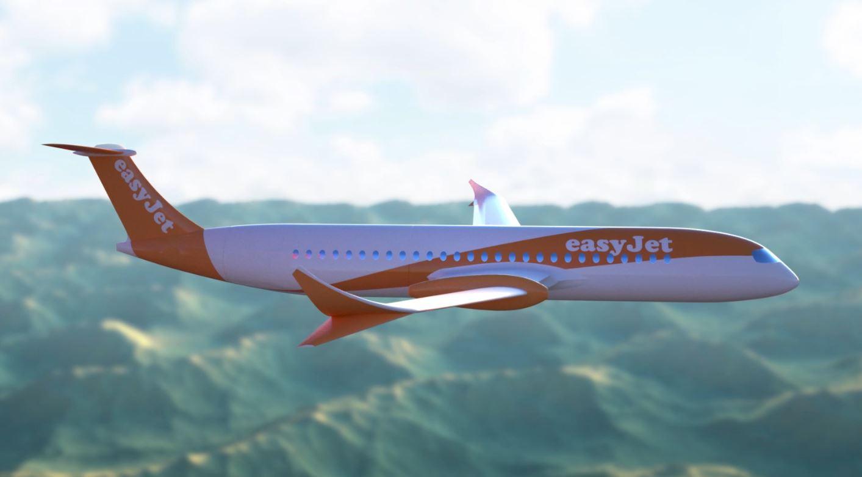 Visualisation d'un avion électrique EasyJet