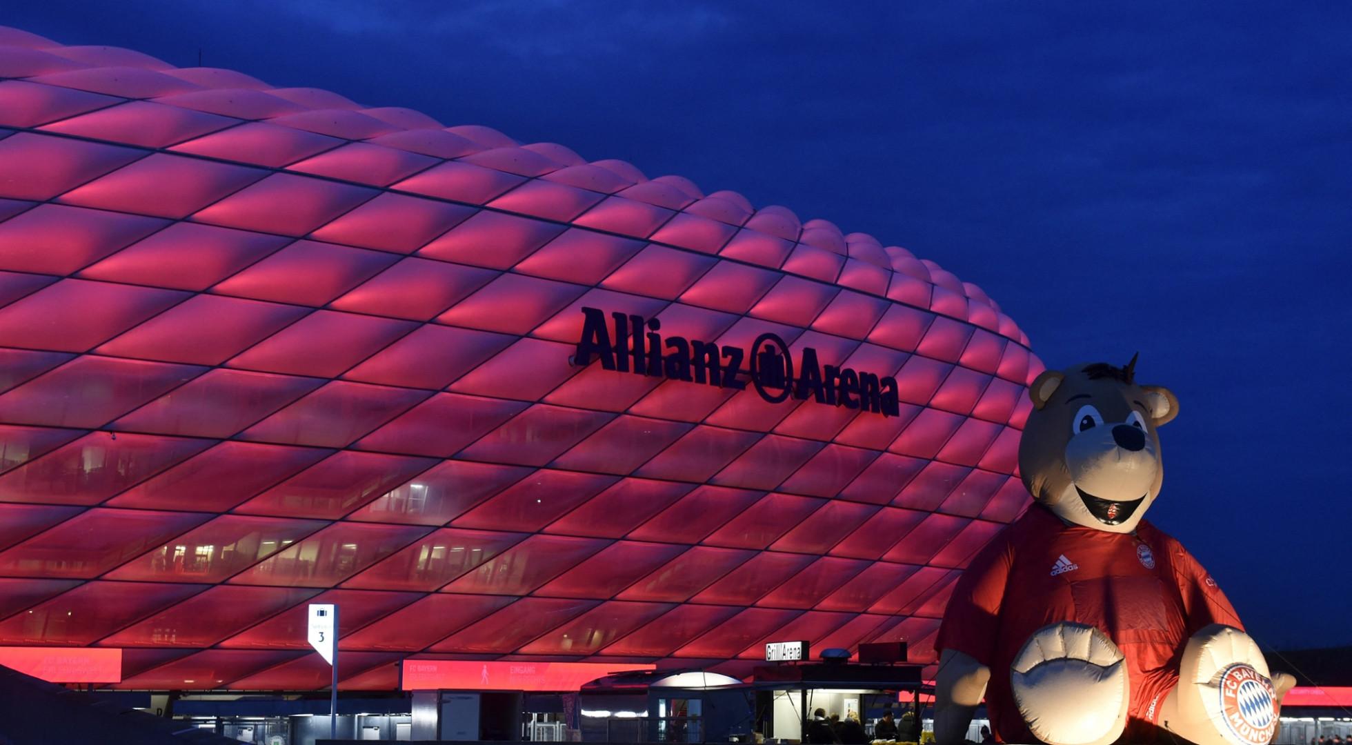 L'Allianz Arena de Munich en décembre 2019