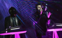 Daft Punk et The Weeknd lors de la 59e cérémonie des Grammy Awards