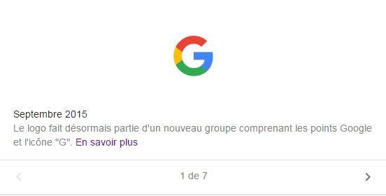 Google en septembre 2015