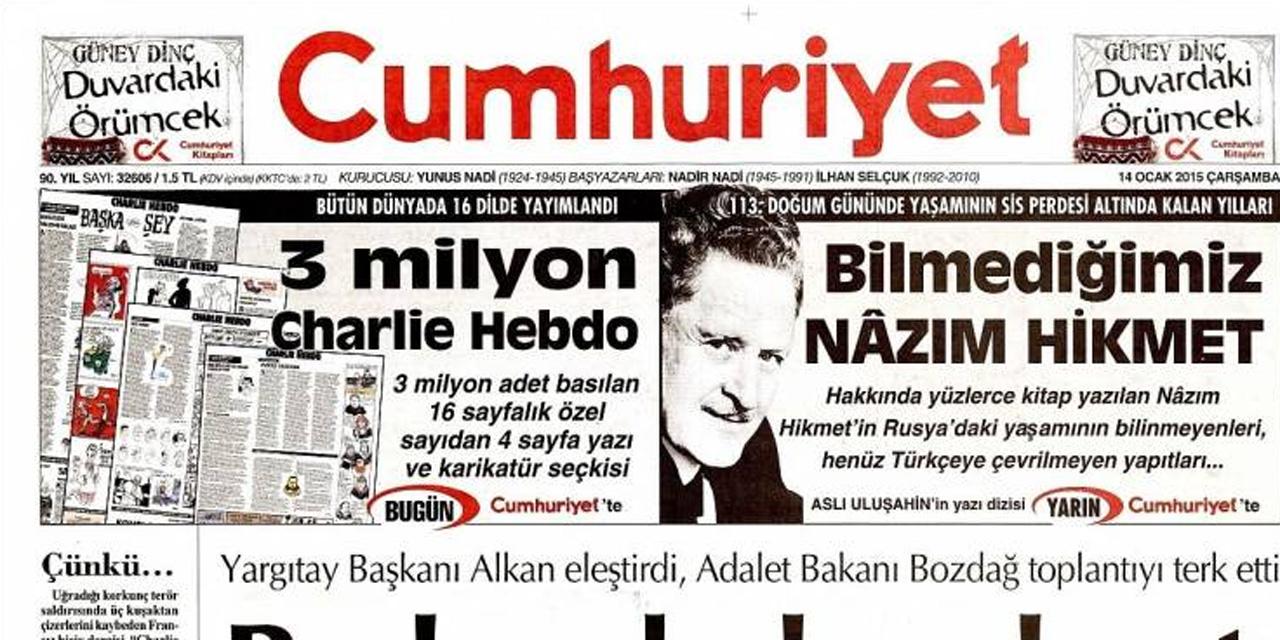 Le journal turc est en partenariat avec le journal satirique français, il en introduit quatre pages dans son numéro du jour.