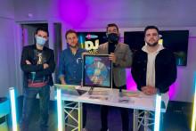 Matt, Alex Wat, Mico C et Adrien Toma lors de la cérémonie des Fun Radio DJ Awards