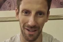 Romain Grosjean adresse un message aux auditeurs de Fun Radio après son accident