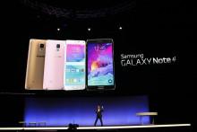 Samsung a présenté à la presse la Galaxy Note 4 au salon IFA de Berlin