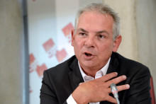 Le secrétaire général de la CGT, Thierry Lepaon à Montreuil en octobre 2013.