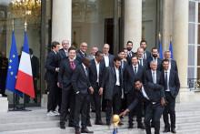 Les handballeurs français ont été reçus à l'Élysée mardi 3 février 2015