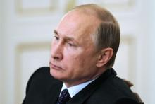 Vladimir Poutine lors d'une réunion avec le gouvernement, le 4 février 2015, à Moscou.