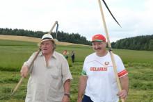 Gérard Depardieu et le président biélorusse Alexandre Loukachenko, le 22 juillet 2015.