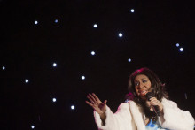 Aretha Franklin le 6 décembre 2013 pendant la traditionnelle cérémonie de l'éclairage de l'arbre de Noël à Washington DC
